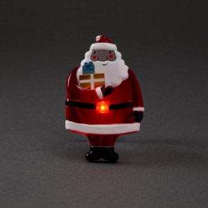 Mos Craciun 3D cu Ventuza si Iluminat cu Baterii