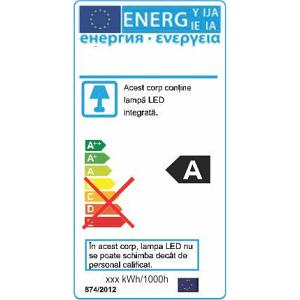 Corp Liniar LED Fida 36W=72W 6500K 1200mm