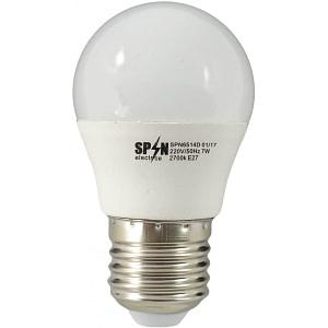 Bec Bl Led Sferic E27 7W 220V 6400K G45 Lumina Rece