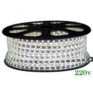 Banda LED 220V 6400K 12W/m Ip65 120Led/M 3014