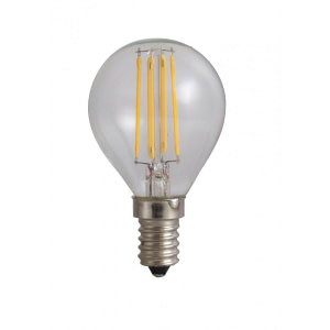 led-ieftin Bec Sferic Filament LED E14 4W 220V 3000K