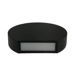 Aplica Neagra de Perete fi135 7W IP65 6000k