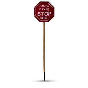 Indicator cu LED Mos Craciun STOP Here