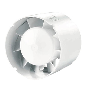 Ventilator VENTS 100 VKO1, axial in linie pentru montare pe tubulatura, diametru 100 mm, debit 107 mc/h