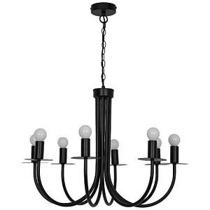 Candelabru GoodHome Mashatu, negru, surse 8 x (E14), IP20