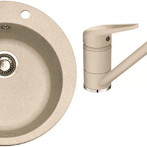 Pachet chiuveta fragranite Franke ROG 610 + Baterie Novara Plus, cartus ceramic, Avena