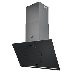 Hota unghiulara GoodHome Bamia, control prin gesturi, culoare negru, 151 W, A++, 900 x 1130 x 380 mm