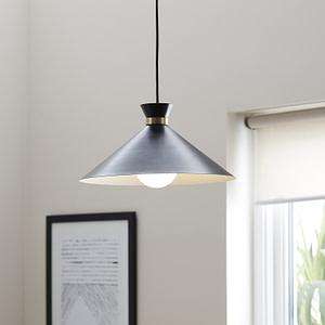 Pendul GLS GoodHome Apennin, negru, 1xE27, design modern, finisaj mat