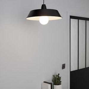 Pendul sfera GoodHome Gammuse, negru, cablu reglabil, 1xE27