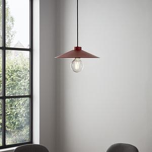 Pendul sfera GoodHome Zanbar, rosu, 1xE27, design modern, finisaj mat